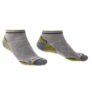 Zokni Bridgedale Hike ultrakönnyű T2 Coolmax Performance Low grey/green/068, bridgedale